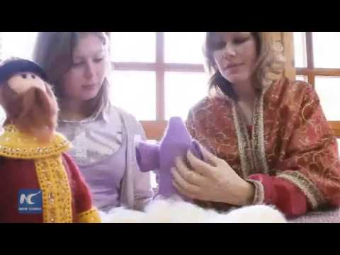Handmade felting crafts in Russia