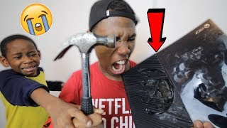 I Destroyed My Little Brothers Xbox One.. *Prank* (He Cried)