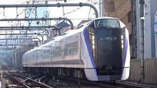 JR中央線E353系特急国立駅通過