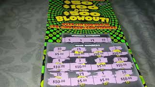 50, 100, 500 blowout Florida lottery 10.00 ticket awesome win
