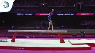 Daria MURZHAK (UKR) - 2018 Artistic Gymnastics Europeans, junior beam final