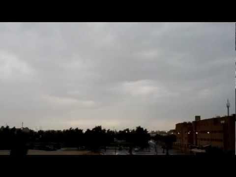 Kuwait rainy weather (time lapse) [20-Nov-2012]
