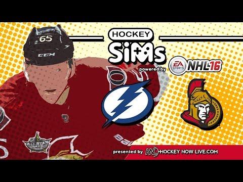 Lightning vs Senators (NHL 16 Hockey Sims)