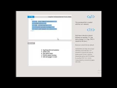 Introduction To HTML For Beginners || Creating Lists In HTML || HTML Part2