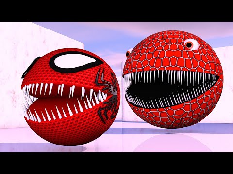 Spider Pacman Vs Red Monster Pacman