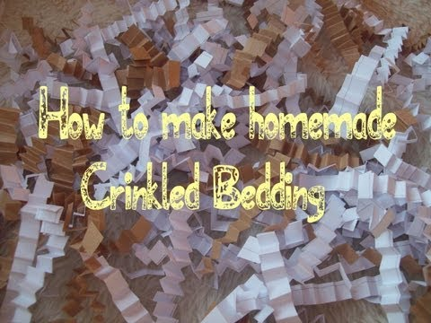 How to make home-made crinkles bedding