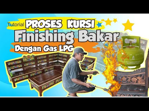 CARA MUDAH FINISHING BAKAR KURSI TAMU JEPARA- Step By Step
