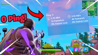 How to get 0 PING in fortnite (Season X)