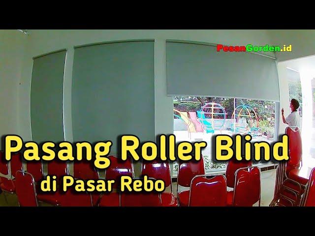 Gorden Kantor Pasar Rebo | Roller Blinds - Pasang Tirai Kantor Jakarta 082310989451 #gudanggorden