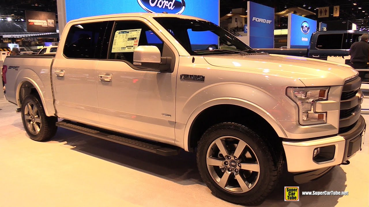 2015 ford f 150 lariat sport exterior and interior walkaround 2015 chicago auto show youtube. Black Bedroom Furniture Sets. Home Design Ideas