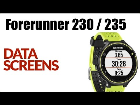 How To Customize Data Screen On The Garmin Forerunner 230 / 235 ! FEATURE  REVIEW !