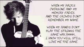 Download lagu Thinking Out Loud by Ed Sheeran LYRICS