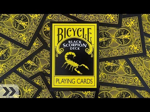Bicycle Black Scorpion Playing Cards | Quick Deck Review -Walkthrough