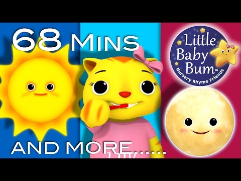 Day And Night Song | Plus Lots More Nursery Rhymes | 68 Minutes Compilation from LittleBabyBum!
