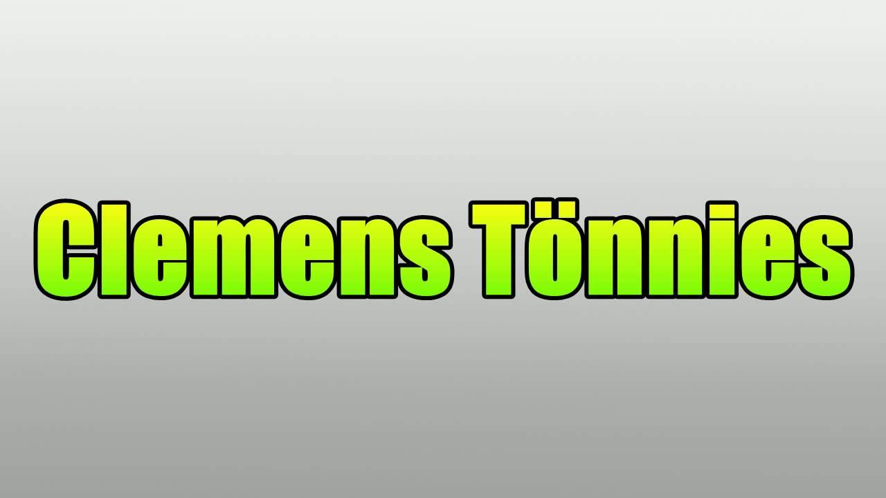 Clemens Tönnies Rede