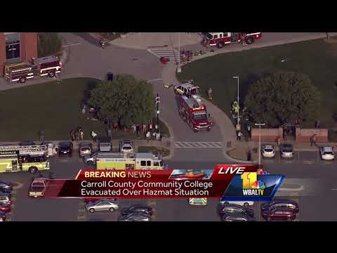 Video: Carroll Community College evacuated after chemical overheated