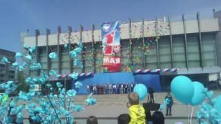 Парад 1-го Мая в Луганске