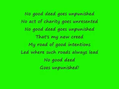 Wicked- No good Deed lyrics