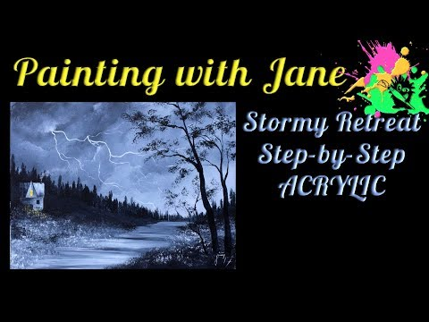 Stormy Retreat Step by Step Acrylic Painting on Canvas for Beginners