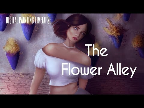The Flower Alley | Digital Painting Timelapse