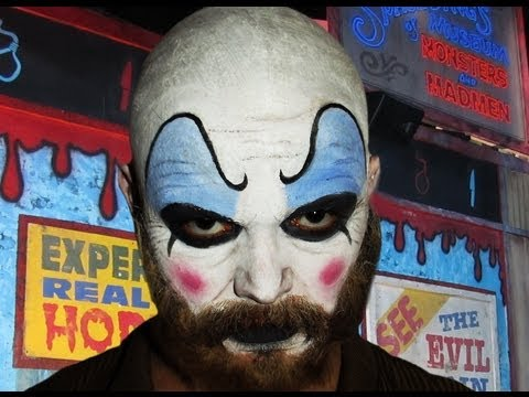 Captain Spaulding - Devils Rejects - Makeup Tutorial! - YouTube