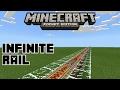 Minecraft PE   How To Make Infinite Rail!   Command Block creation