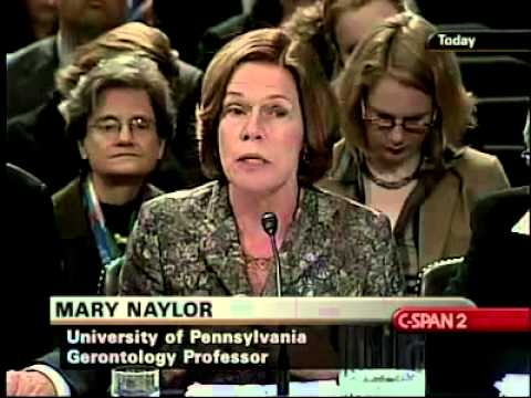 Dr. Naylor speaks to the Senate Finance Committee-2009