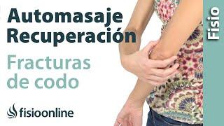 Auto-masaje global del codo para recuperación de fracturas y lesiones de codo