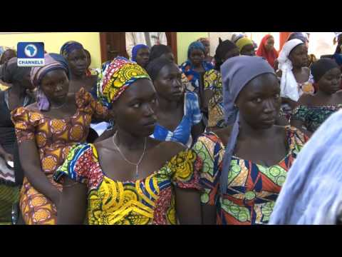 President's Chief Of Staff Receives 82 Released Chibok Girls (Video)