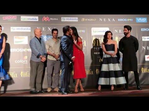 Salman Khan's kisses & hugs Katrina at NYC IIFA pres meet