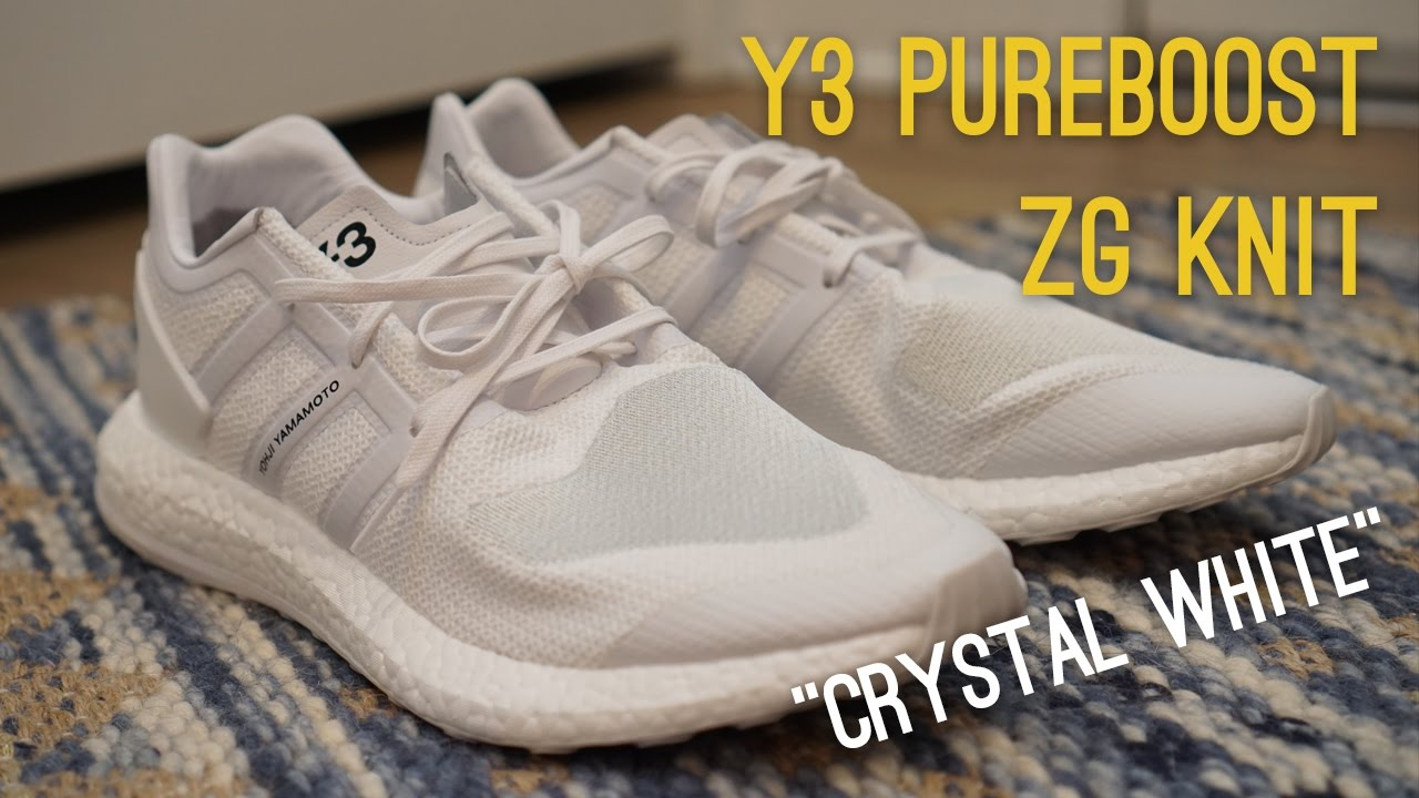 6df868659 Y-3 Pureboost ZG Knit Crystal White Overview (320 Bucks!) - YouTube