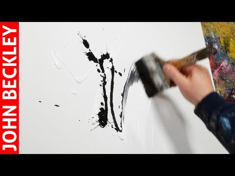 Abstract Art Painting Demonstration With Acrylics | Myth