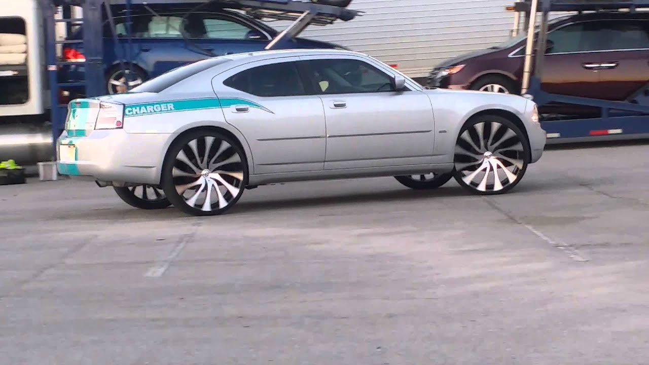2010 Charger On 26s Starr Rims Youtube