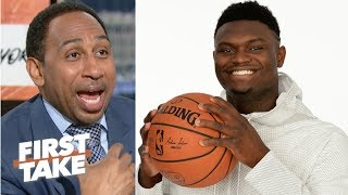 'What can go wrong, will go wrong' - Stephen A. reacts to the Knicks losing out on Zion | First Take