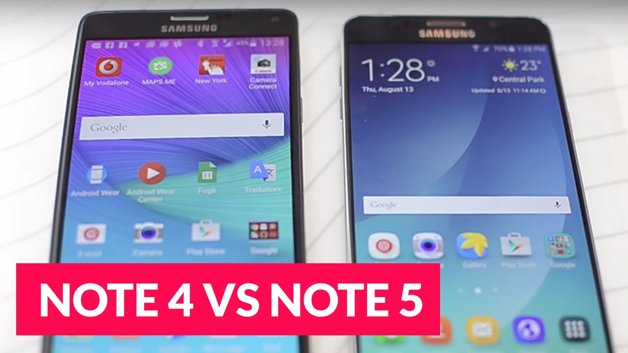 Galaxy note 5 vs note 4 ita videoconfronto ridble youtube - Samsung dive italia ...