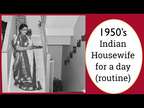 1950'S Indian Housewife For A Day | Grandma's Routine | Simple Living Wise Thinking