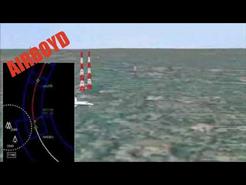 Animation of a Curved RNAV Approach to Atlanta Peachtree Airport  for Obstacle Avoidance
