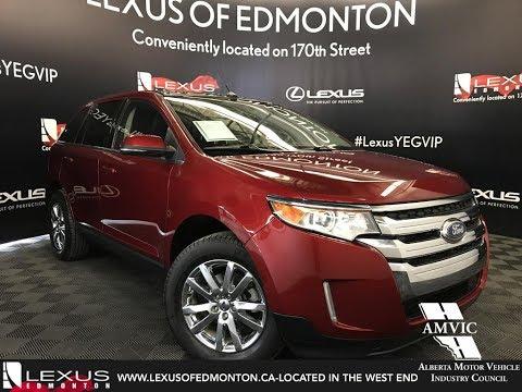 Used Red  Ford Edge Limited Walkaround Review Fort Saskatchewan Alberta Lexus Of Edmonton