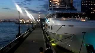 The Wolf of Wall Street Yacht at Night