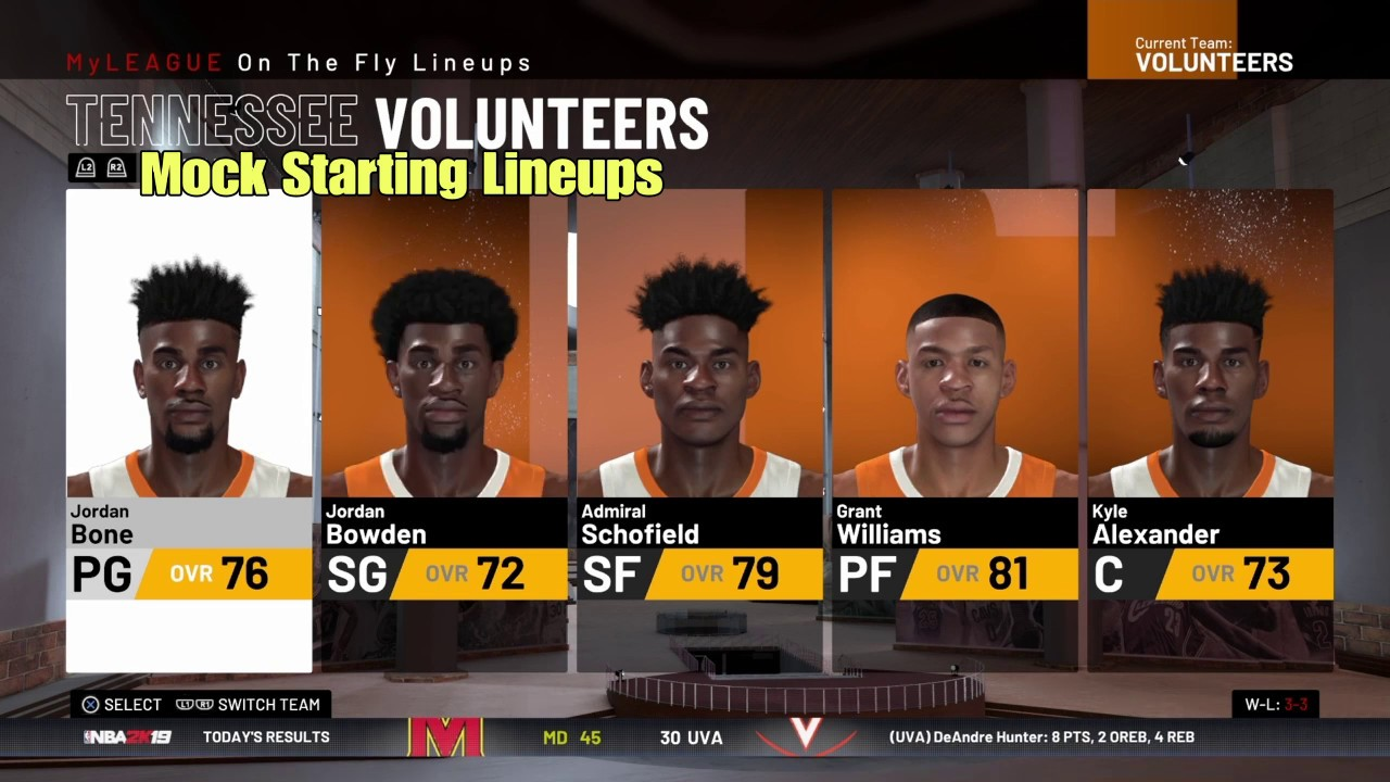 NBA2K19™* NCAA Roster 2K19 tutorial for PS4