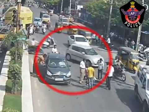 Horrible Bike Vs Car Accident | Caught By CCTV in Tirupati | Live Accidents in India