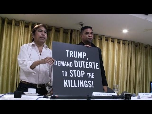 Amnesty calls on Trump to address human rights with Duterte