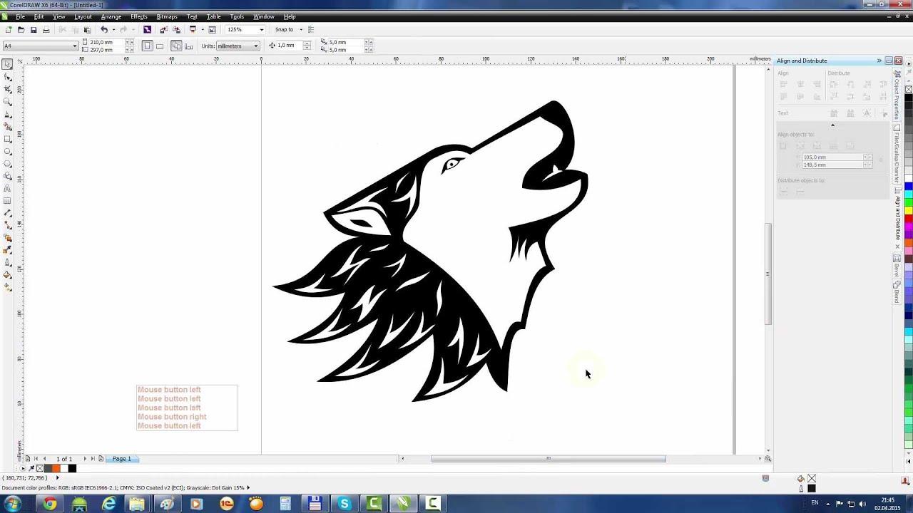 Coreldraw Tutorial: Draw A Wolf Tattoo