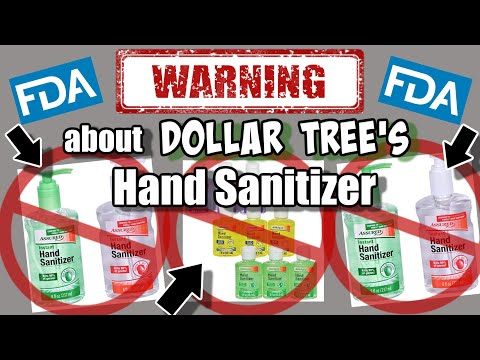 WARNING About DOLLAR TREE HAND SANITIZER | MUST SEE Information From The FDA