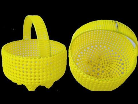 Plastic Wire Pooja Koodai With Frame (2/2)   Round Shape Koodai   How to weave Koodai with Frame