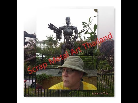 Scrap Metal Art Thailand Predator Alien Transformers etc
