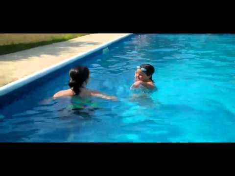 Hannah and Sarah swimming May 2011