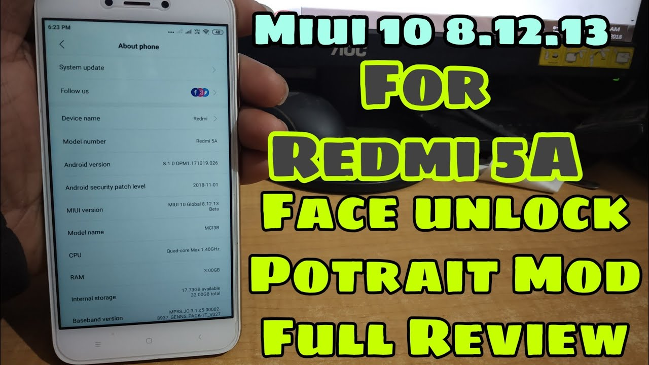 Miui 10 8 12 13 Global Beta Update for Redmi 5A -Potrait Mod - Full Review  by Sumit Obroy