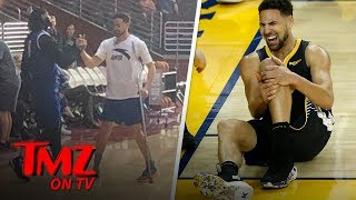 Klay Thompson Not Letting Injury Stop Him From Filming 'Space Jam 2' | TMZ TV