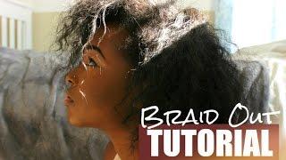 braid out tutorial on natural hair